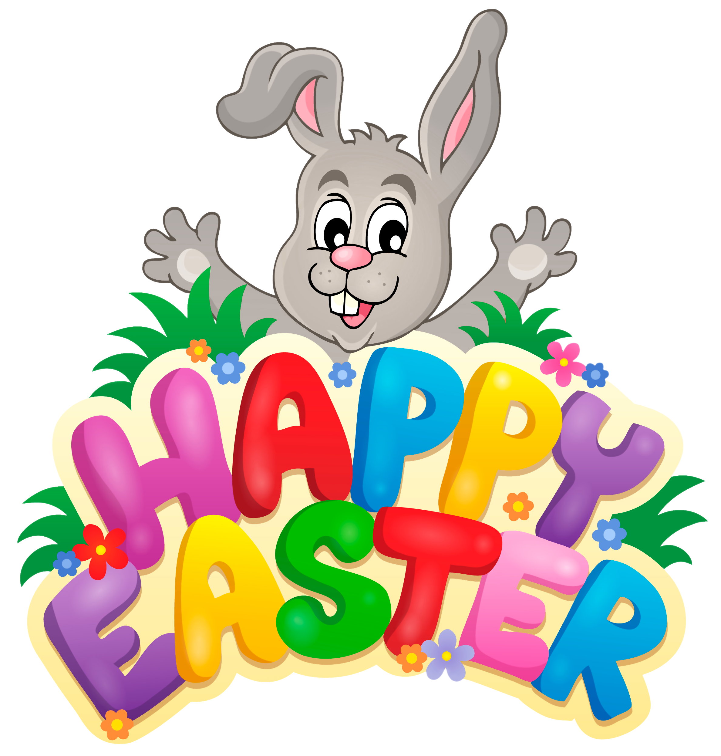 Transparent happy easter with .