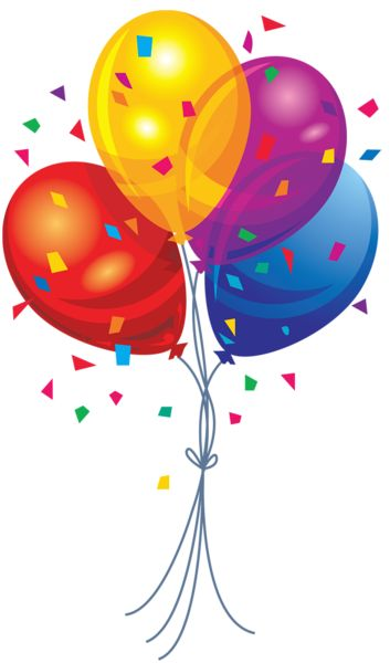 Transparent Multi Color Balloons Clipart | Clipart | Pinterest | Of life, Happy and Lol lol lol