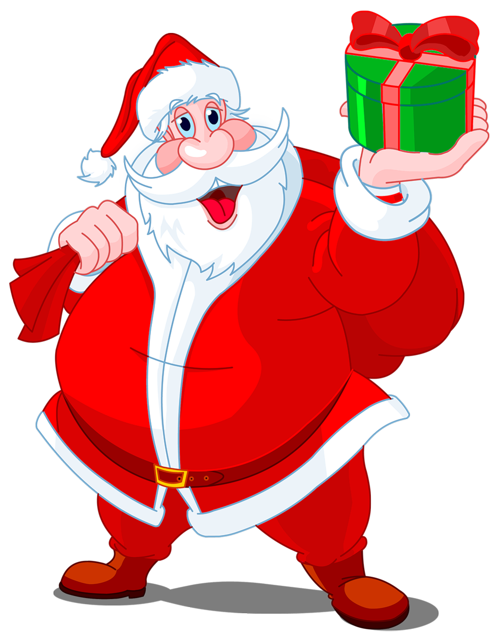 Transparent Santa Claus with .