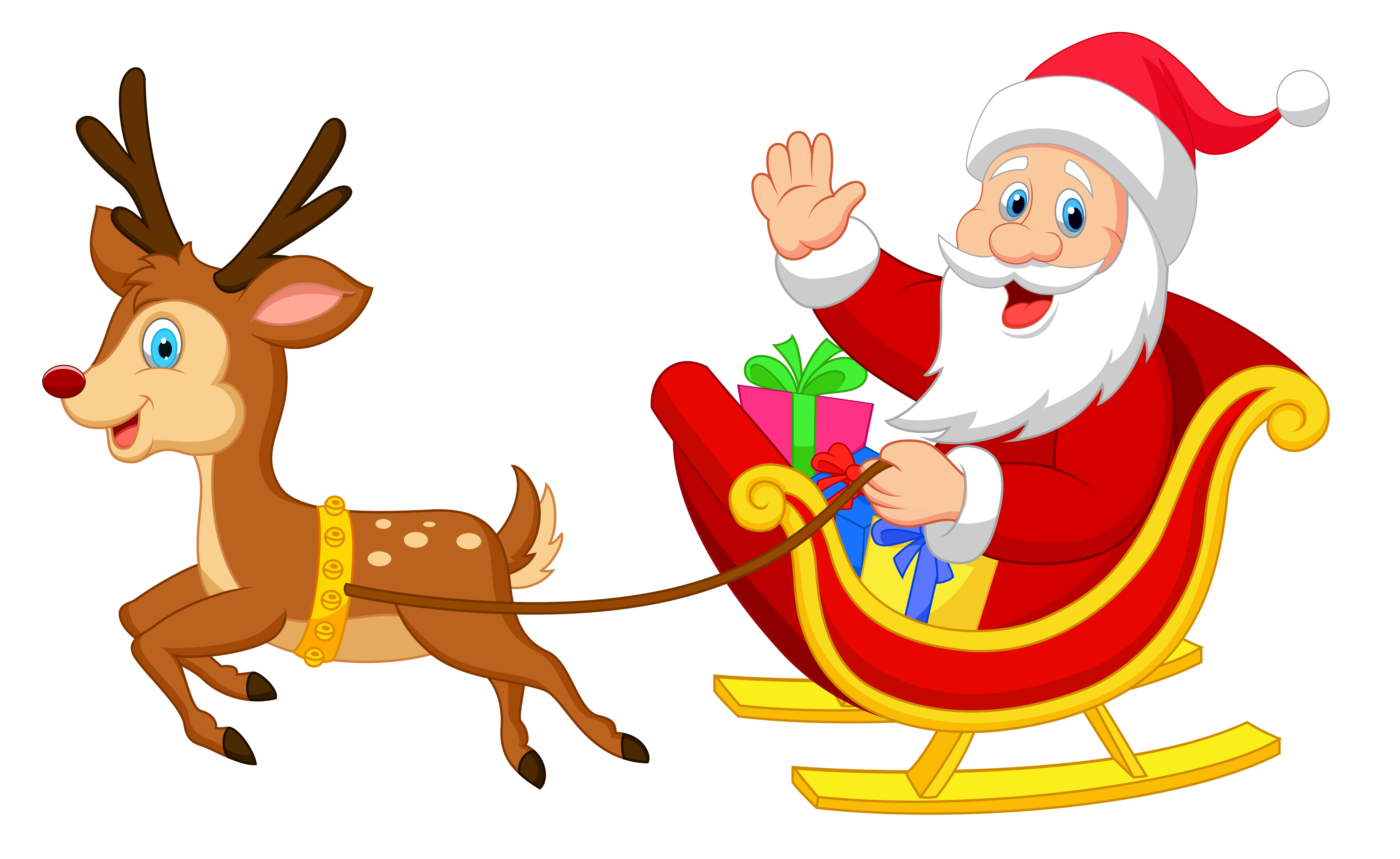 Transparent Santa with Rudolph PNG Clipa-Transparent Santa with Rudolph PNG Clipart-9