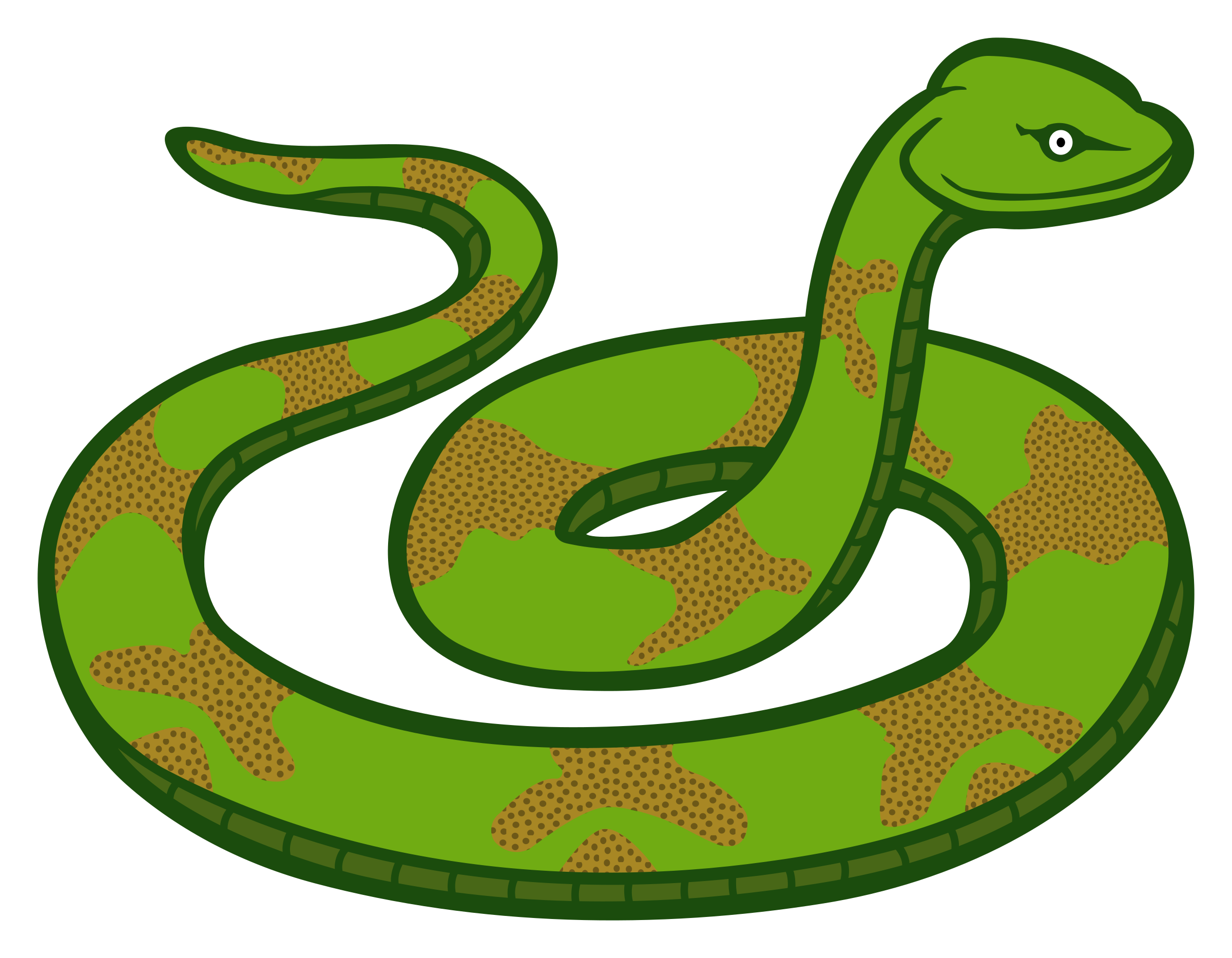 Transparent snake clipart 2