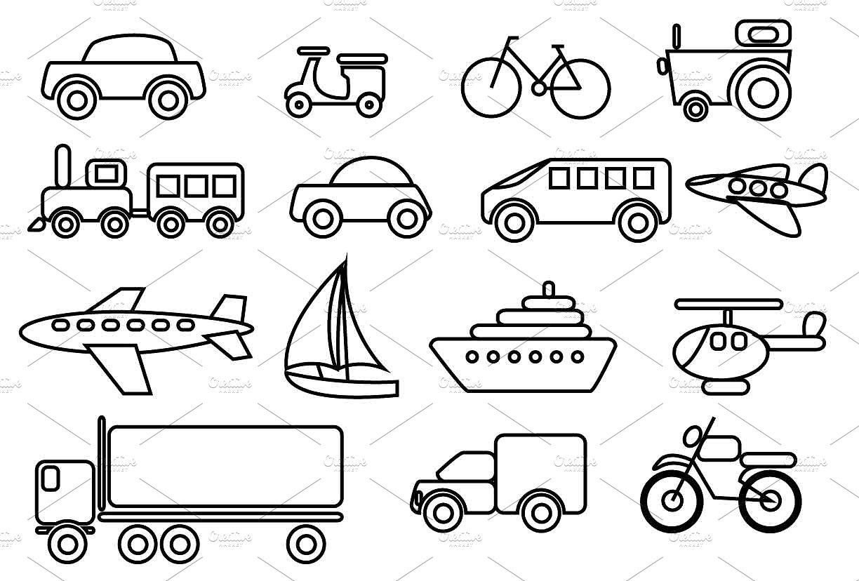 Transportation Vector Clip art set