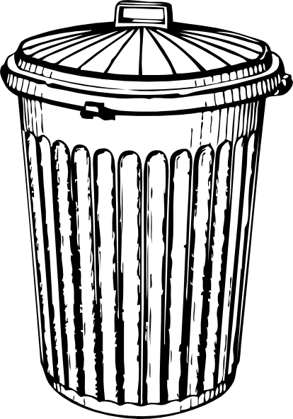 Trash Can Clip Art At Clker Com Vector Clip Art Online Royalty Free