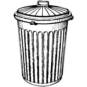 Trash Can clip art - vector .