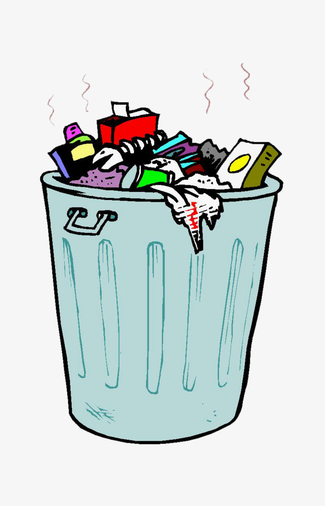cartoon stinking garbage, Garbage Heap, Trash Can, Odor PNG Image and  Clipart