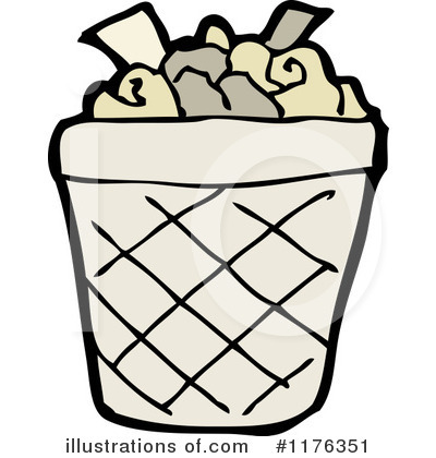Royalty-Free (RF) Trash Can Clipart Illustration #1176351 by lineartestpilot
