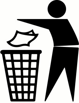 Trash Can Symbol Clipart #1