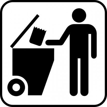 Trash Disposal Clip Art Free  - Trash Clip Art