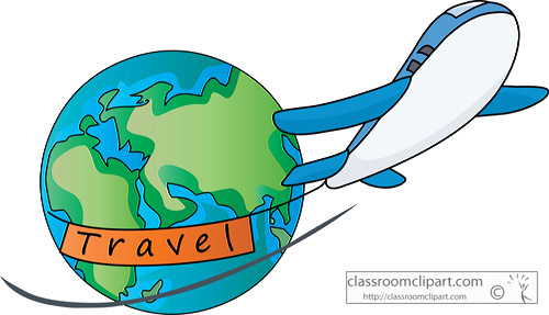 Travel Air Travel Around World 07a Classroom Clipart