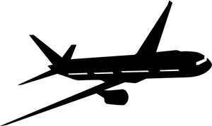 Travel Clipart Image - Jet . - Airplane Silhouette Clip Art