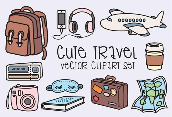Premium Vector Clipart - Kawaii Travel Clipart - Kawaii Clip Art Set - High  Quality Vectors - Instant Download - Kawaii Clipart