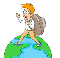 Traveling around the world clipart. Size: 92 Kb