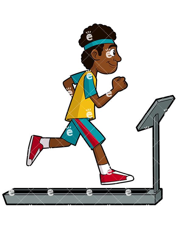 A Black Man Exercising On A Treadmill-A Black Man Exercising On A Treadmill-15