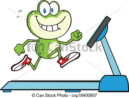 Green Frog Running On A Treadmill - csp1-Green Frog Running On A Treadmill - csp18400807-14