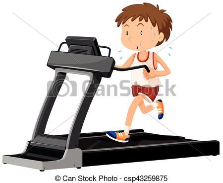 Man running on treadmill - csp43259875-Man running on treadmill - csp43259875-10