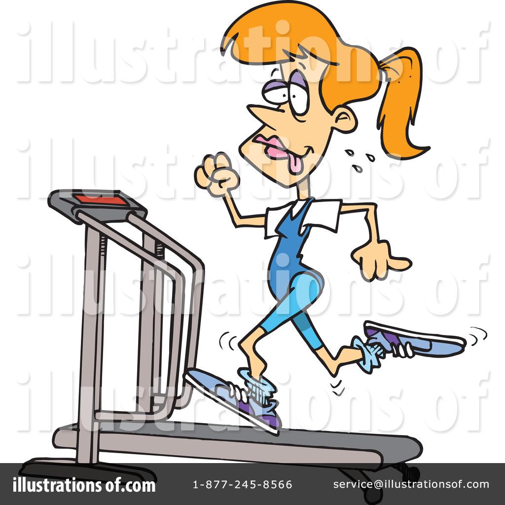 Royalty-Free (RF) Treadmill Clipart Illu-Royalty-Free (RF) Treadmill Clipart Illustration #1044492 by toonaday-16