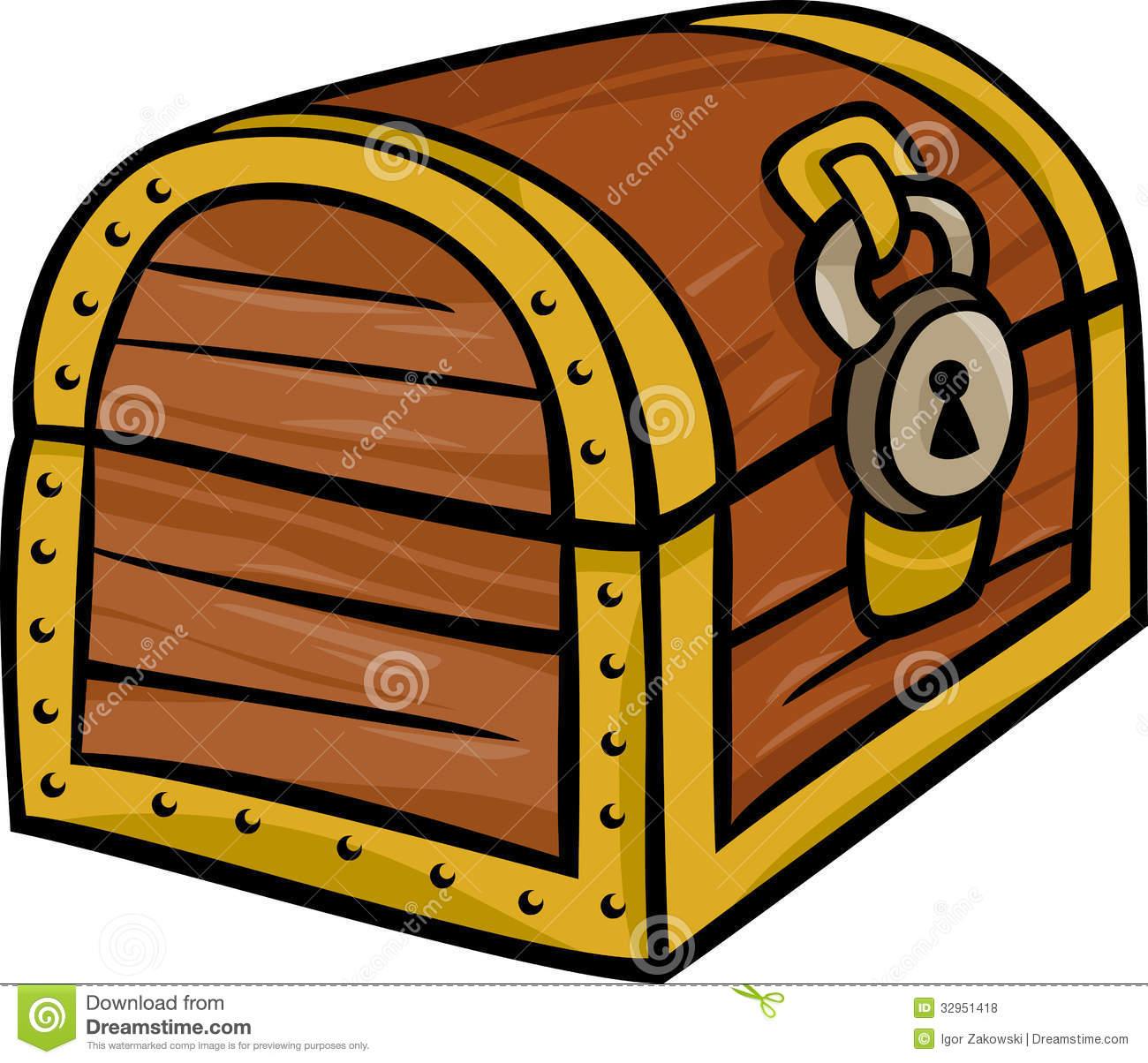 Treasure Chest Clip Art Cartoon Illustration Royalty Free Stock Photos