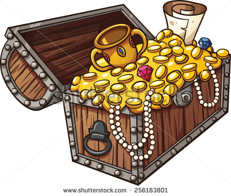 Treasure chest clip art free vector graphics freevectors
