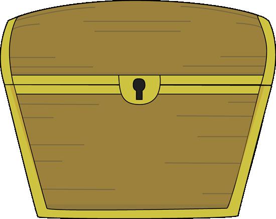 Treasure Chest Clip Art Image - closed treasure chest with gold trim.