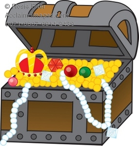 Treasure Chest Gold And Jewels Clip Art Royalty Free Clipart