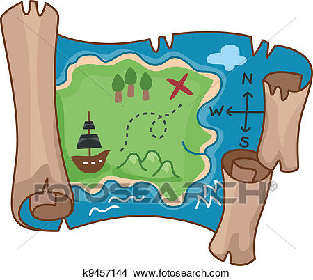 Clipart - Treasure Map. Fotosearch - Search Clip Art, Illustration Murals,  Drawings and