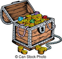 . ClipartLook.com Treasure chest drawing - vector illustration.