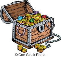 . ClipartLook.com Treasure chest drawing - vector illustration.