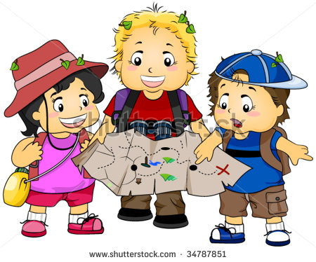 Treasure Hunting Vector 34787851 Shutterstock