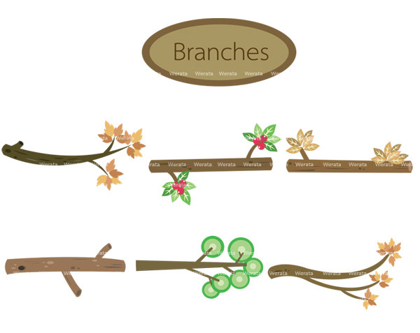 Tree Branch Clipart - Tree Branch Clip A-tree branch clipart - tree branch clip art - branch clipart - tree branches - Personal and Commercial Use-14