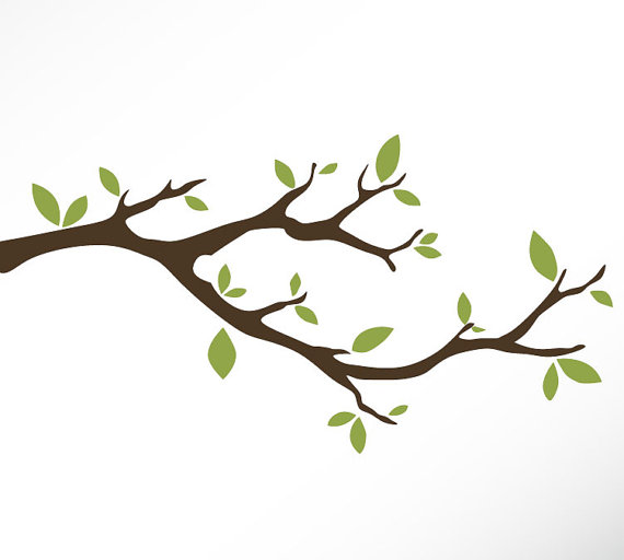 Tree Branch Vinyl Wall Decal .-Tree Branch Vinyl Wall Decal .-15