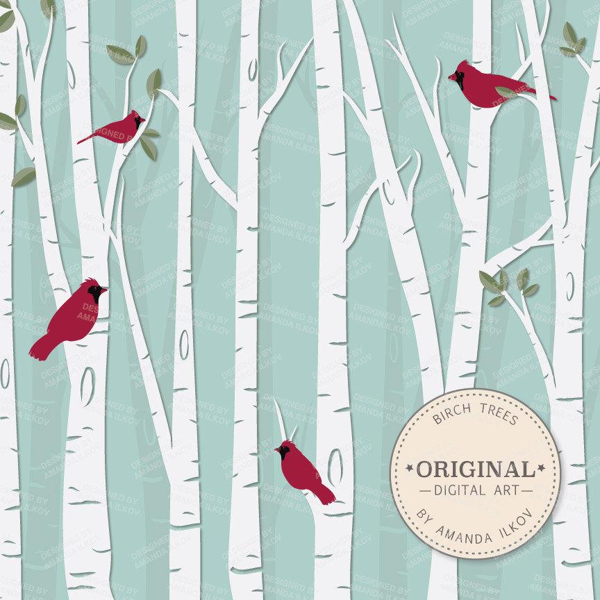 ... Tree Clip Art, Birch Clipart,.