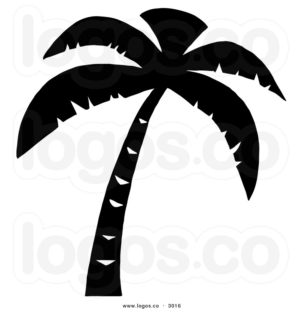 Tree Clip Art Free Royalty Free Vector Of A Palm Tree Black And White
