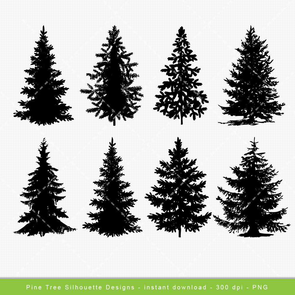 Tree Clip Art, Pine Tree Digital Clipart-Tree Clip art, Pine Tree Digital clipart, Festive Christmas Tree, Xmas, pine,  tree, Christmas - Commercial u0026 Personal - Instant Download-15