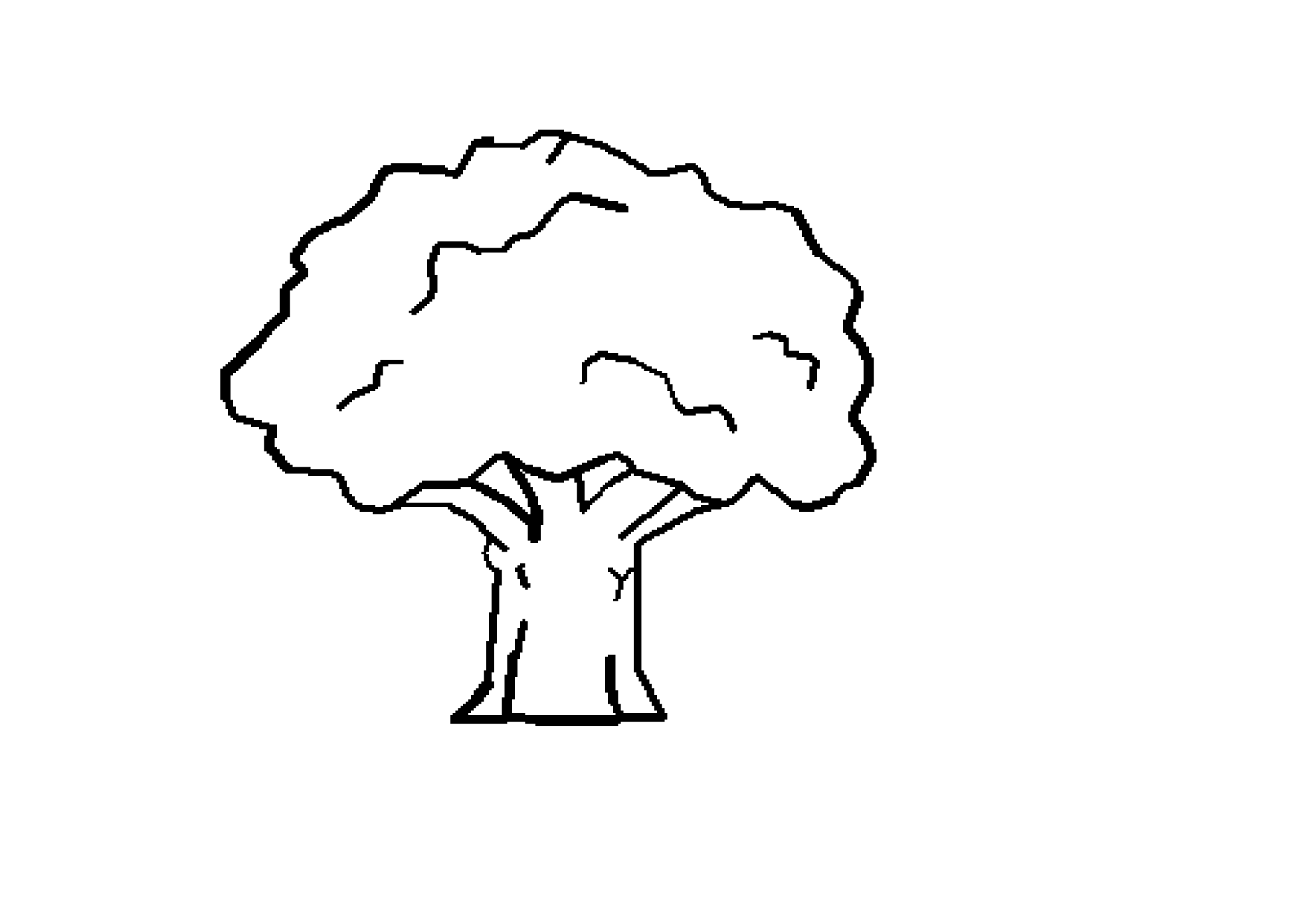 Tree Clipart Black And White  - Tree Clip Art Black And White