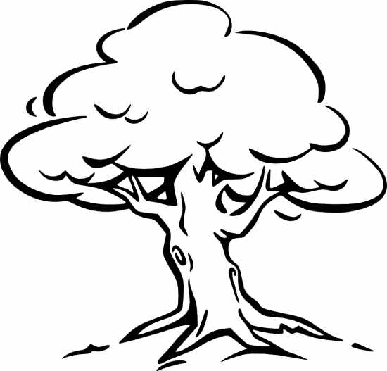 Fall Tree Clipart Black And W