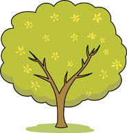 seasonal tree with flowers fruit clipart. Size: 64 Kb