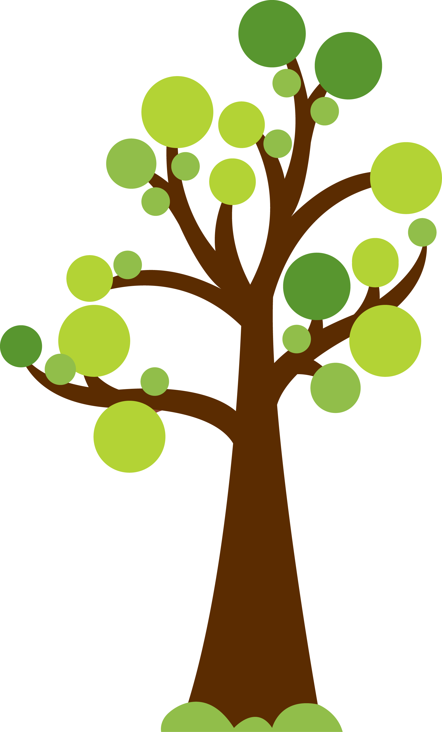 Tree with circles for leaves. Cute image for summer or garden theme. Photo  by - Minus