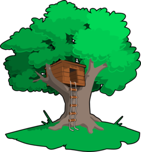 Tree House clip art--Iu0026#39;m going to print out a small clip