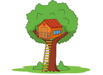 Tree House Clipart Size: 100 Kb