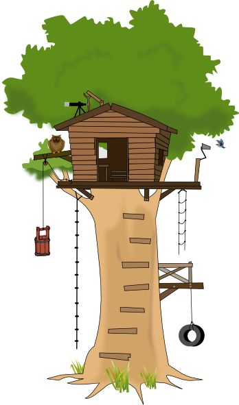 tree house clipart | Tree House clip art - vector clip art online, royalty  free