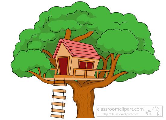 Tree House Clipart - .