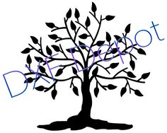 Tree of Life .dxf format. - CNC Cut File - Vector Art - Clip