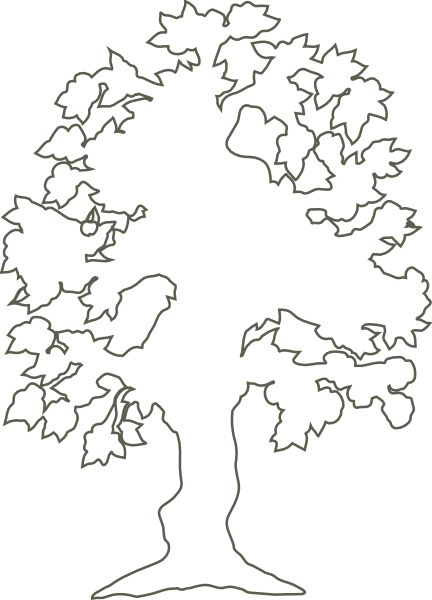 Tree Of Life Outline | Simple Flowering -Tree Of Life Outline | Simple Flowering Tree Outline clip art-13