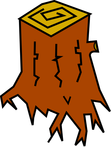 Tree Stump Clip Art At Clker Com Vector Clip Art Online Royalty