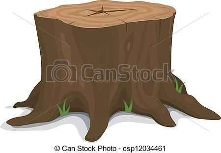 ... Tree Stump - Illustration of a cartoon big tree stump with.