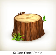 ... Tree stump, vector