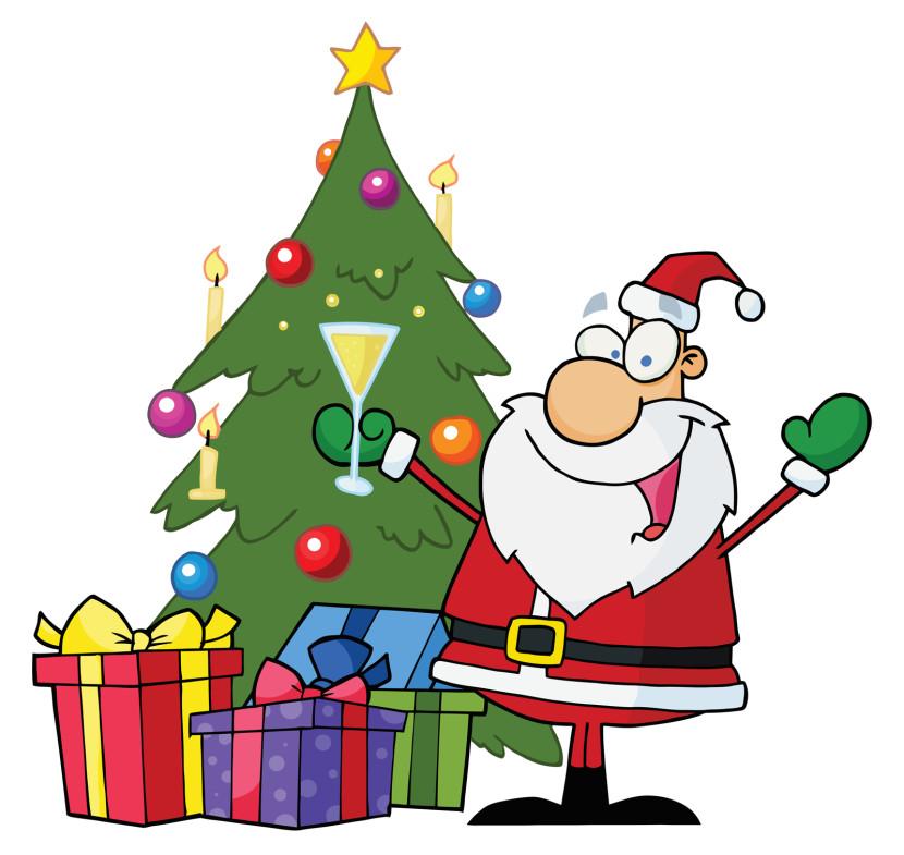 Tree With Santa Clipart Free .