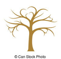 ... Tree without leaves on white background, vector image