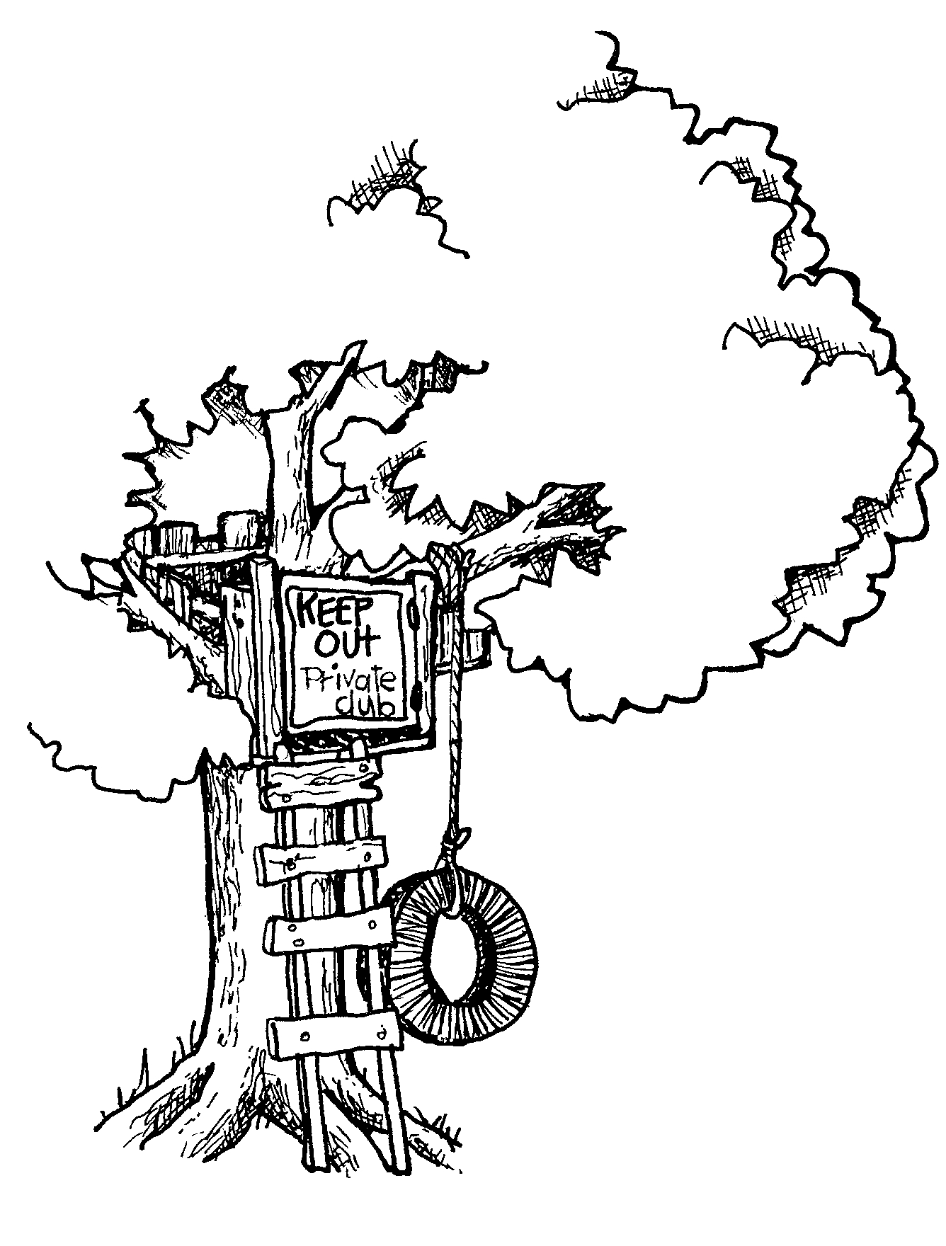 Treehouse Clipart. In retrospect, I wonder if the .