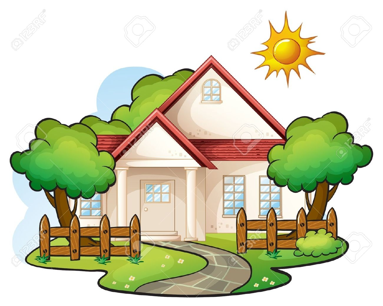 -trees-clipart-5775 house .